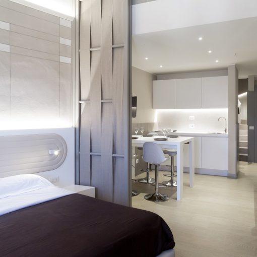 Appartamento Ciompi Arch Lapo Grassellini, camera pranzo e cucina